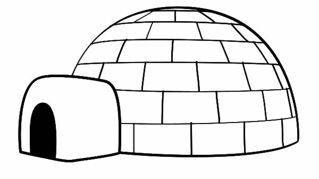 Dessins Et Coloriages: Image D'un Igloo À Colorier encequiconcerne Coloriage Igloo