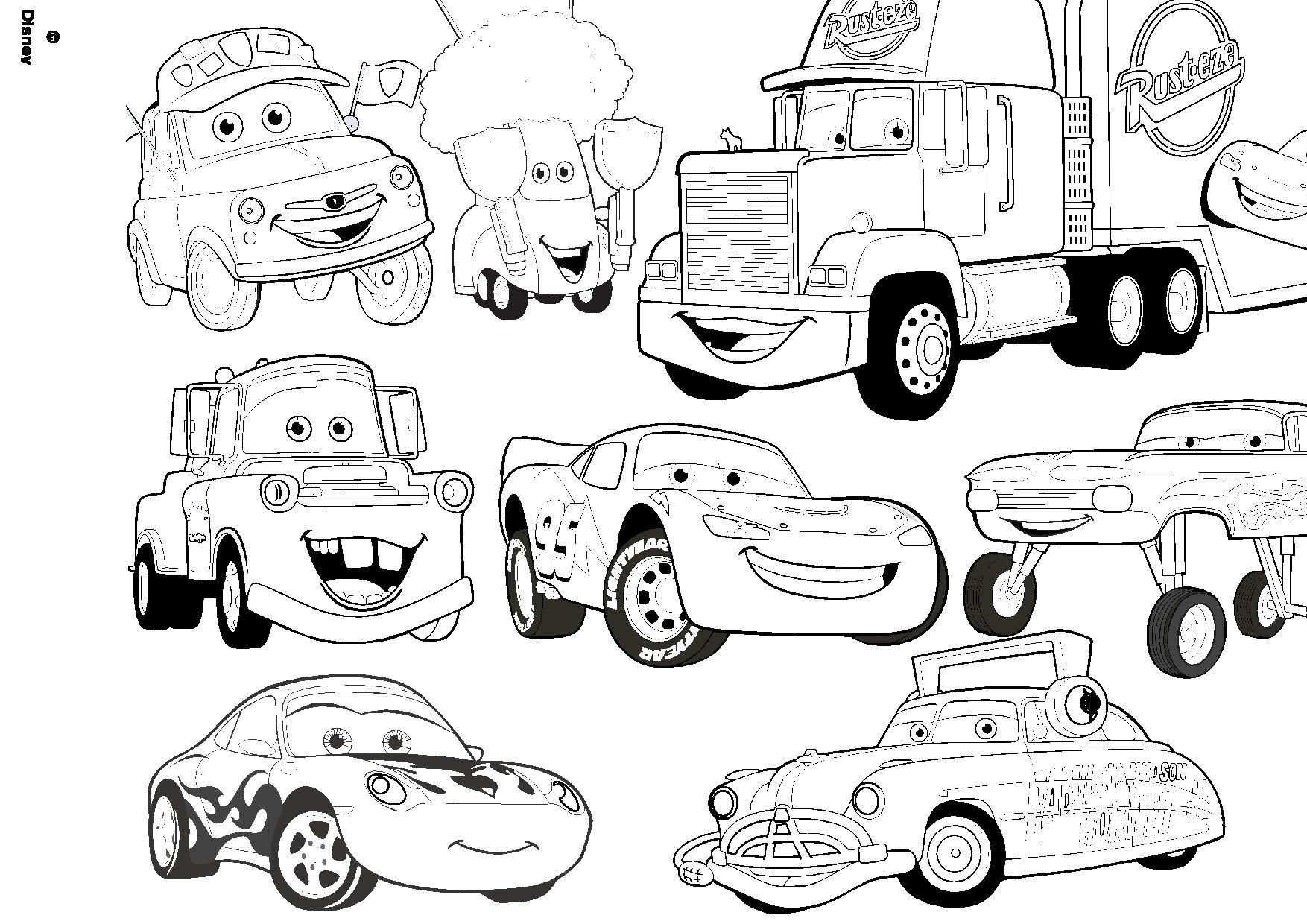 Dessins Gratuits À Colorier - Coloriage Cars Disney À Imprimer à Dessin A Imprimer Gratuit Cars
