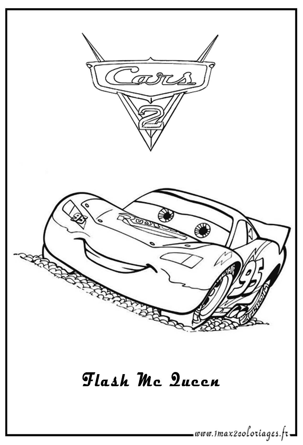 Dessins Gratuits À Colorier - Coloriage Cars Flash Mcqueen À serapportantà Dessin A Imprimer Gratuit Cars