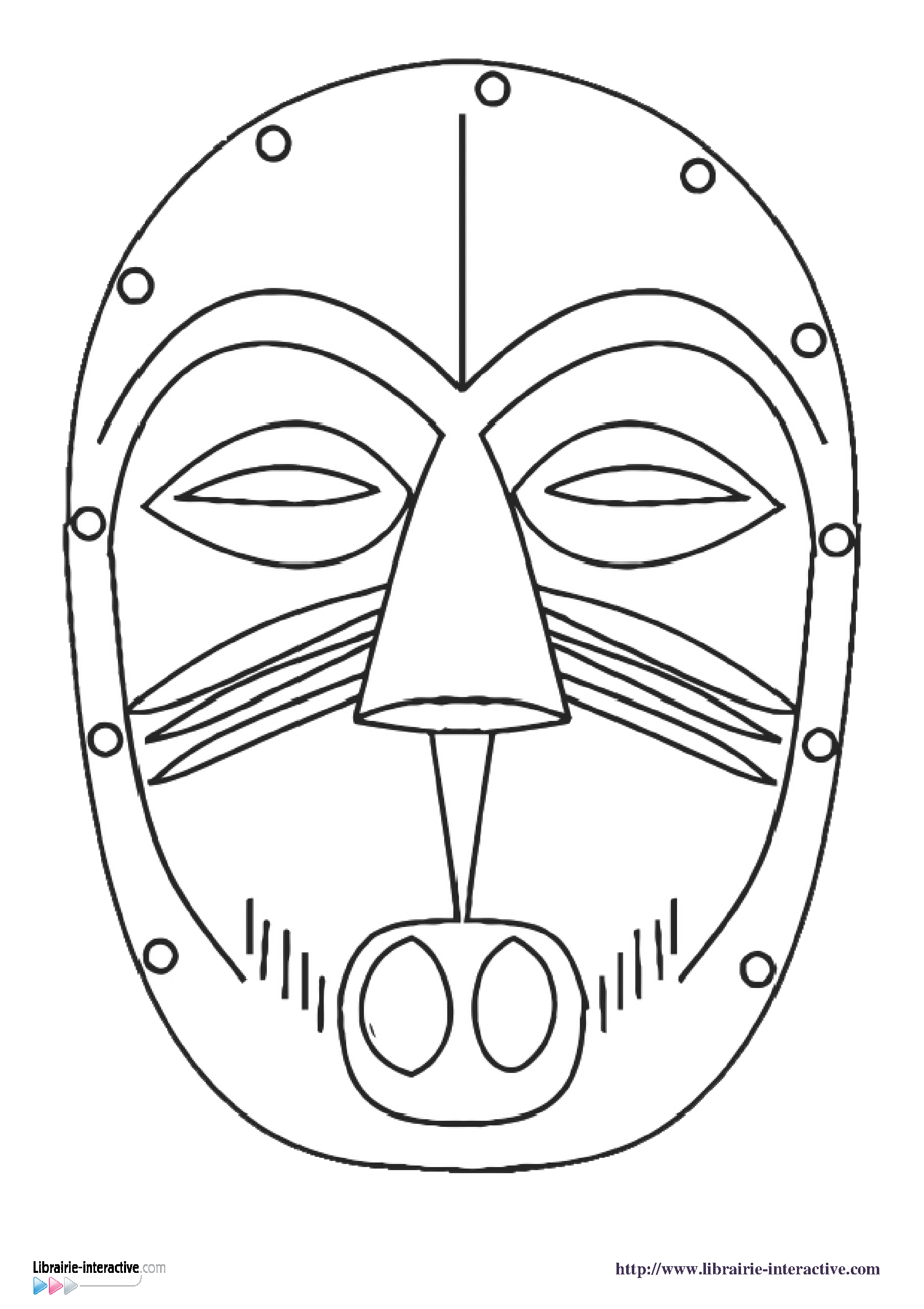 Dessins Gratuits À Colorier - Coloriage Masque Afrique À avec Masque Canard À Imprimer
