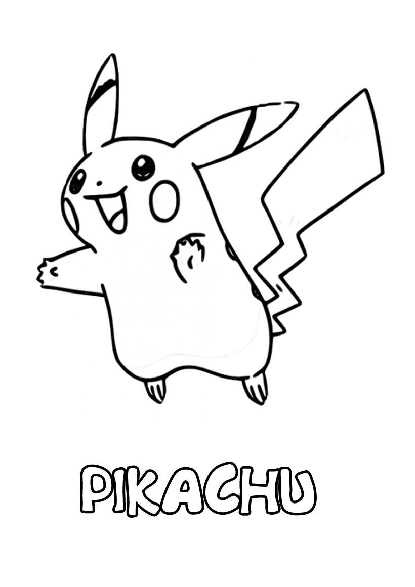 Dessins Gratuits À Colorier - Coloriage Pokemon Pikachu À concernant Imprimer Coloriage Pokemon