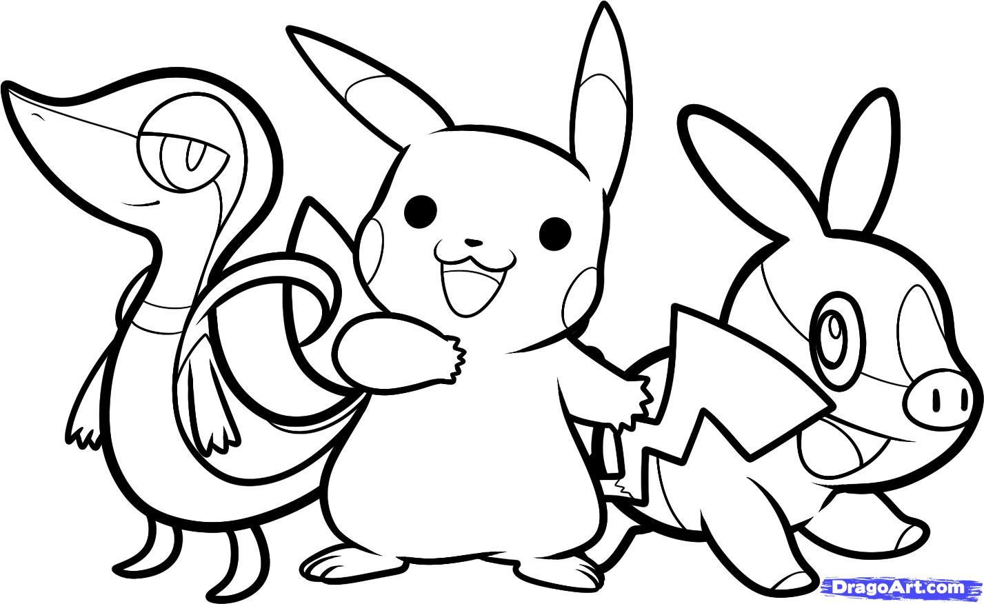 Dessins Gratuits À Colorier - Coloriage Pokemon Pikachu À tout Coloriage De Pokémon Gratuit