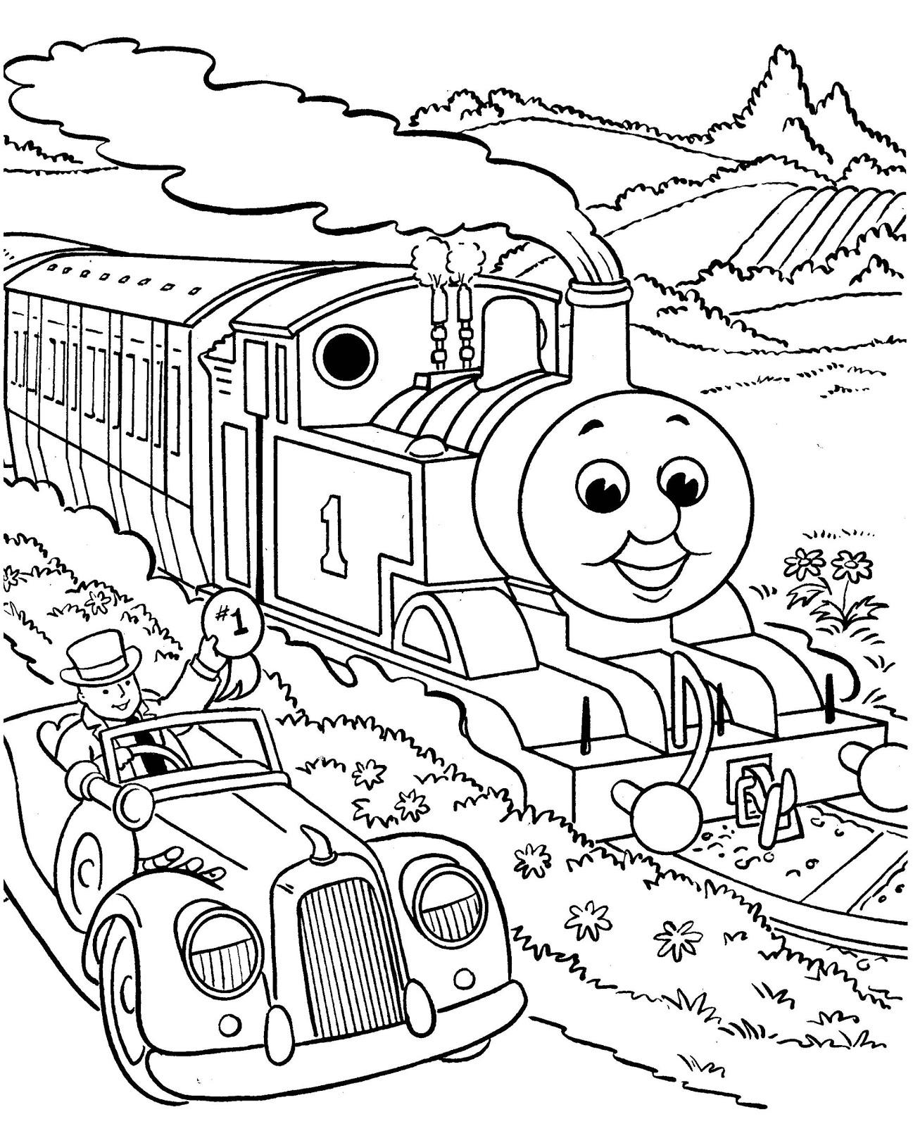 Dessins Gratuits À Colorier - Coloriage Train À Imprimer encequiconcerne Coloriage Thomas Le Petit Train