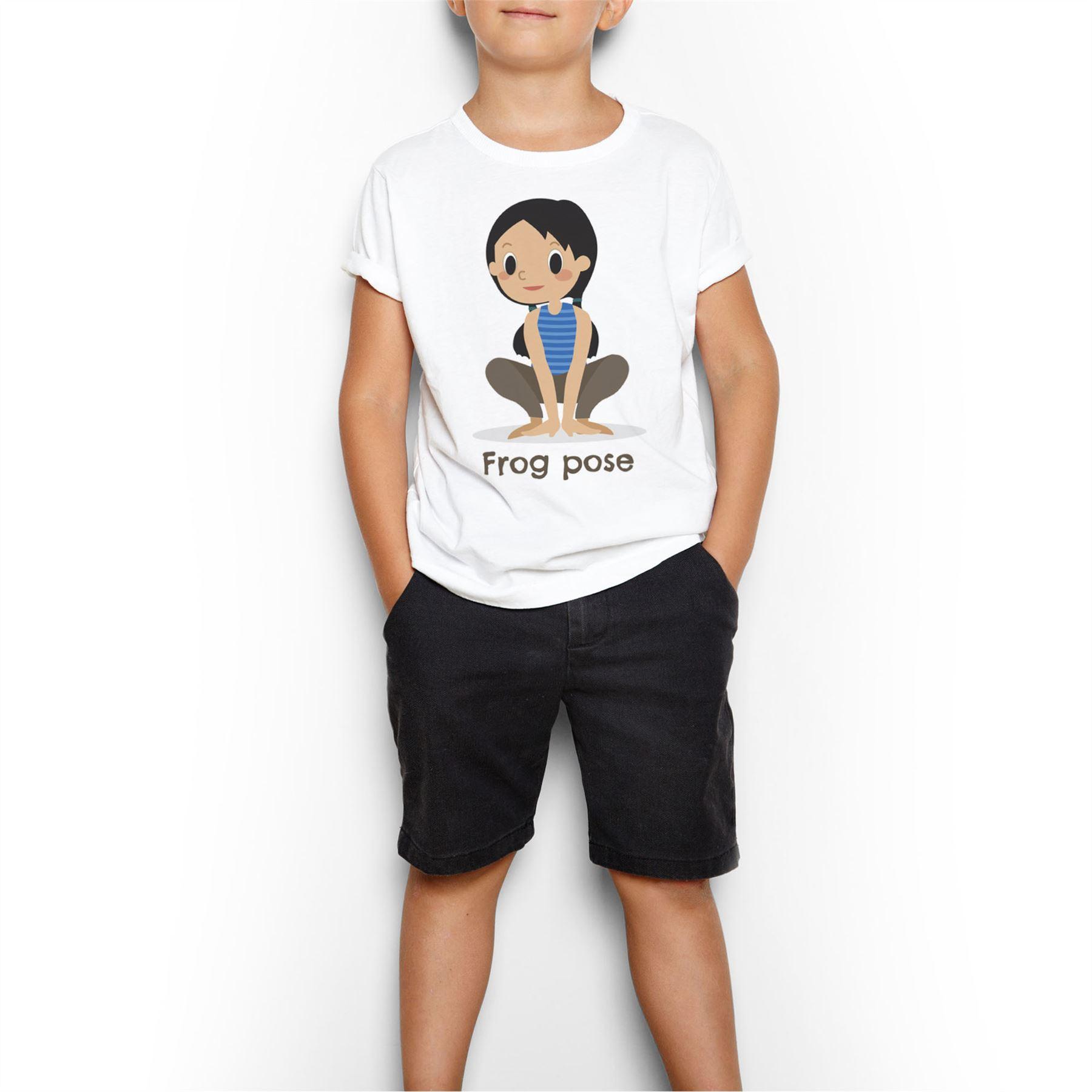 Détails Sur T-Shirt Enfant Yoga Enfant Posture De La Grenouille Asanas  Meditation destiné La Grenouille Meditation