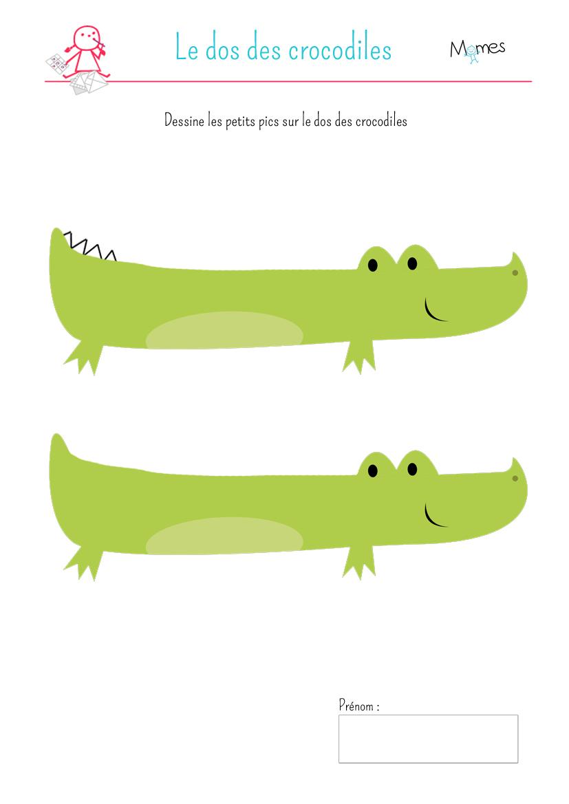 Deux Crocodiles - Momes intérieur Photo De Crocodile A Imprimer