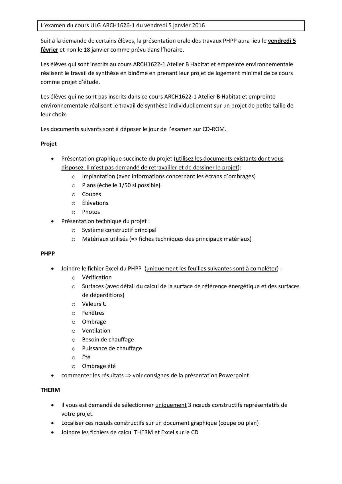 Devoirs De Séminaire - L'examen Du Cours Ulg Arch1626-1 dedans Ateliers Graphiques Ps