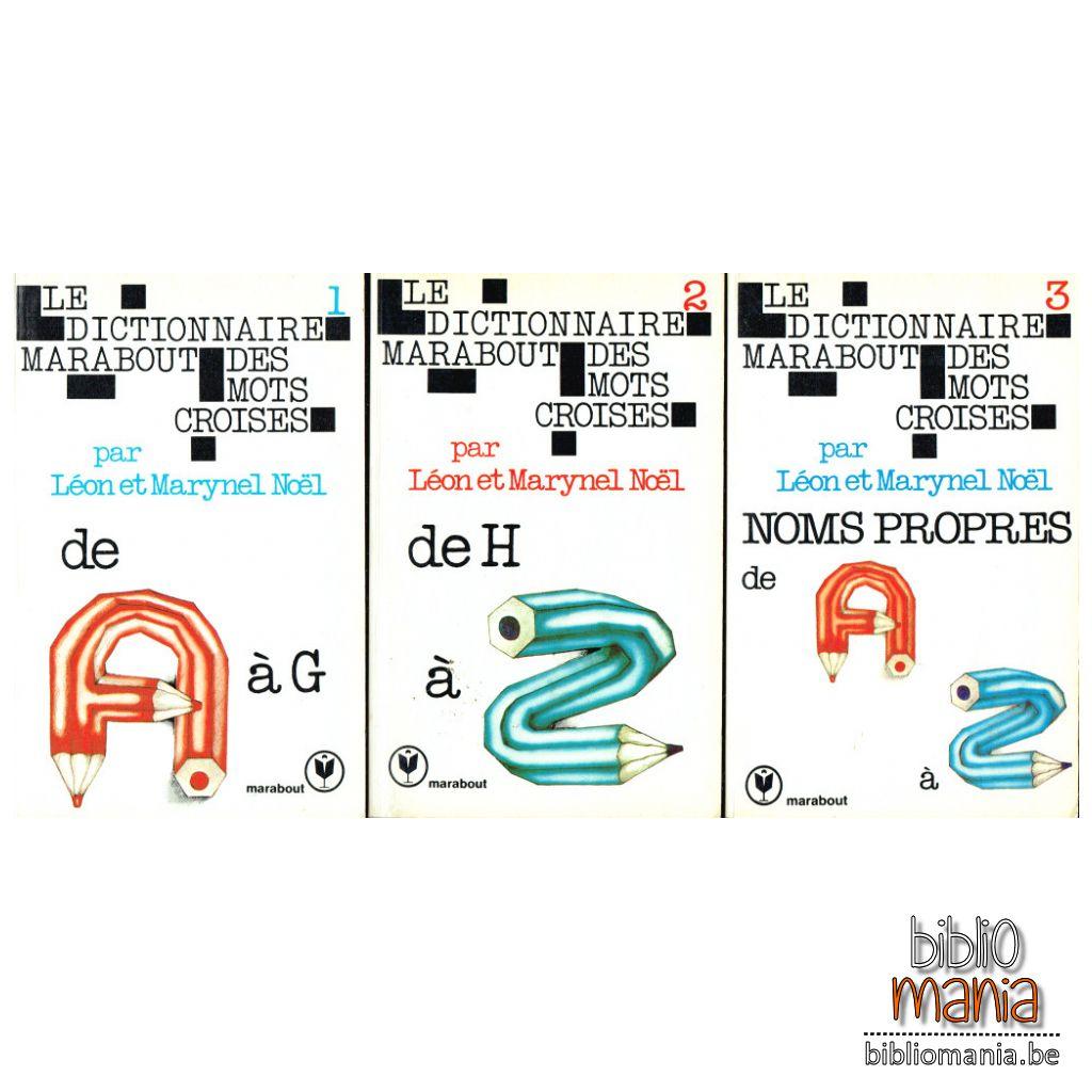 Dictionnaire Marabout Des Mots Croisés, 3 Volumes (Léon Noëm concernant Mots Croisés Noel
