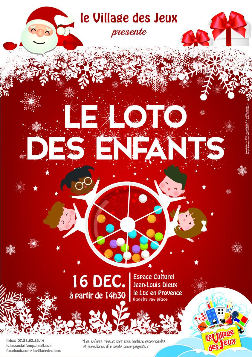 Dimanche 16 Décembre, Loto Des Enfants – Site Officiel De La dedans Loto Espace Jeux