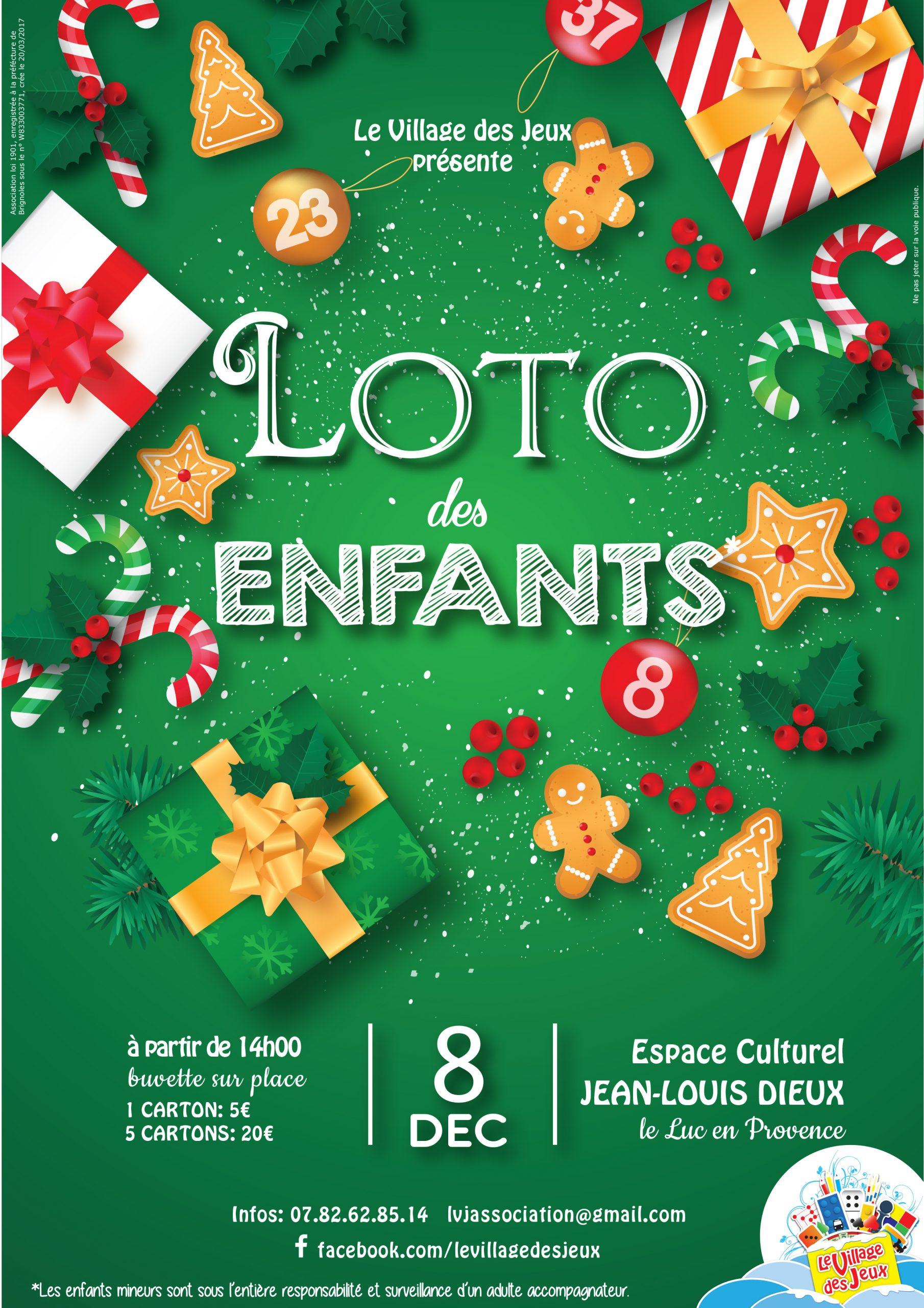 Dimanche 8 Décembre, Le Loto Des Enfants – Site Officiel De avec Loto Espace Jeux