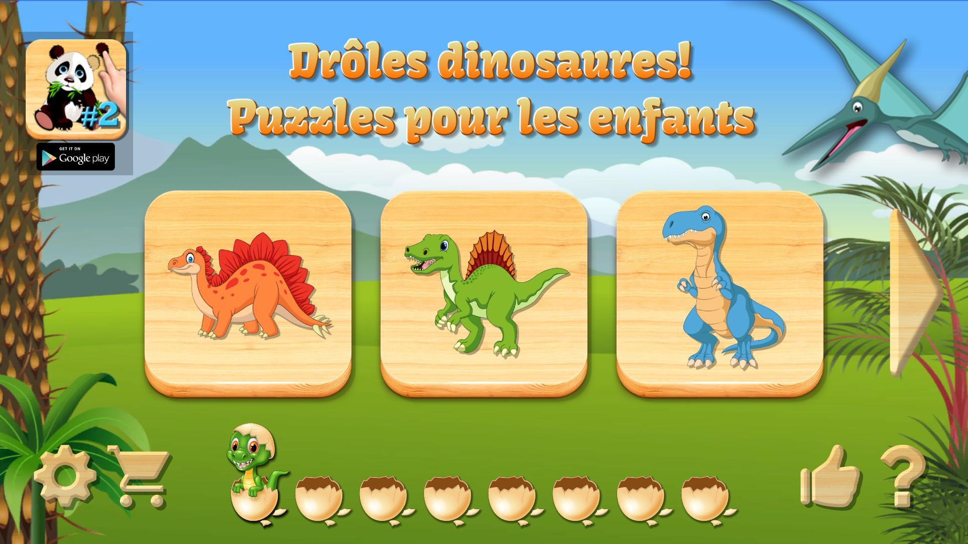 Dino Puzzle - Jeux Educatif Gratuit Pour Android concernant Puzzle Gratuit Enfant