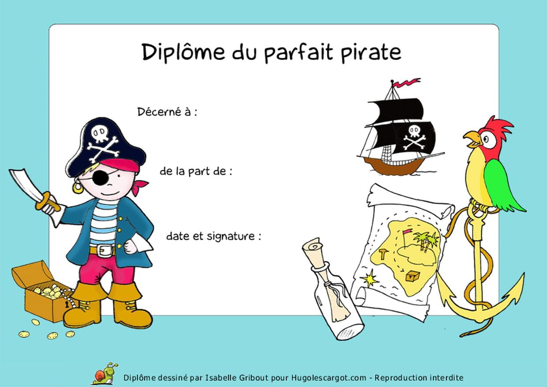 Diplôme Du Parfait Pirate concernant Histoires De Pirates Gratuit
