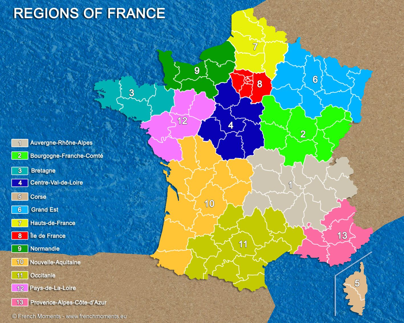 Discover The 13 Administrative Regions Of France (Com Imagens) à Nouvelle Region France