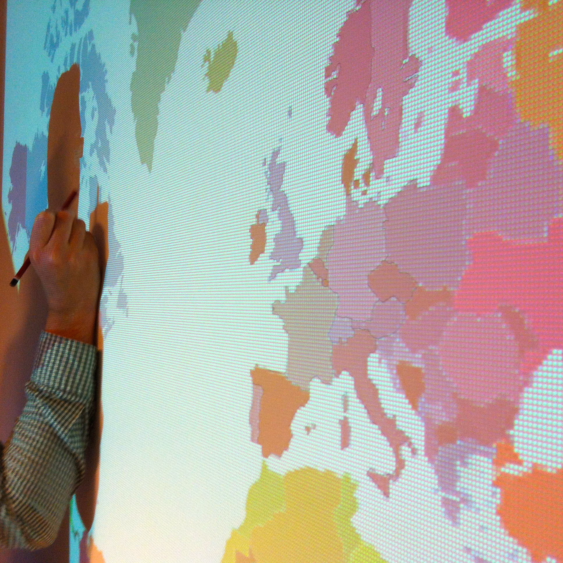 Diy #6 - Une Mappemonde Murale | intérieur Dessin Mappemonde
