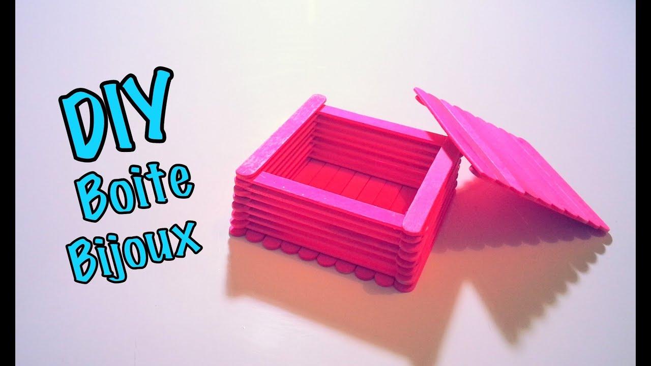 Diy Boite À Bijoux Avec Bâtons De Bois/glace intérieur Bricolage Avec Baton De Bois