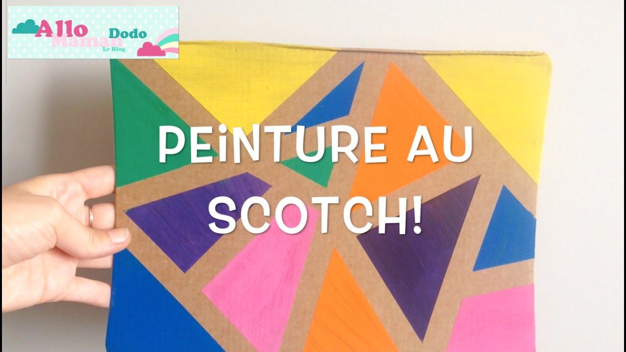 Diy Enfants: La Peinture Au Scotch, Activité Facile Et Sympa! à Tableau De Peinture Pour Enfant