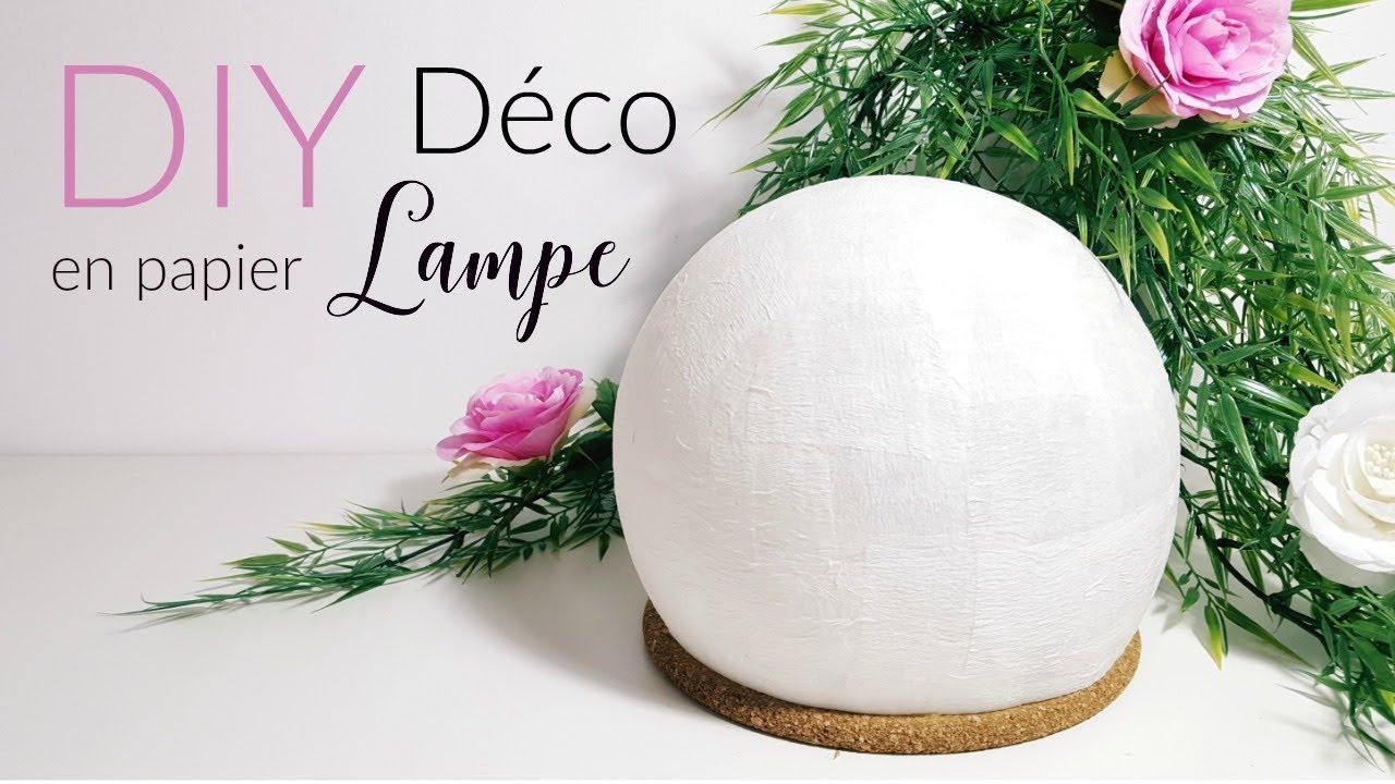 Diy Fabriquer Une Lampe En Papier Crépon intérieur Realisation Papier Crepon