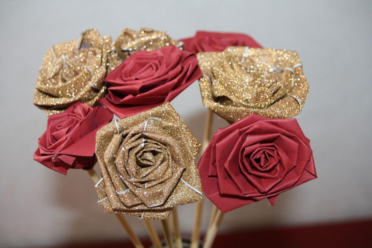 Diy Faire Des Roses En Papier, C'est Facile !!! - Créativez tout Origami Rose Facile A Faire