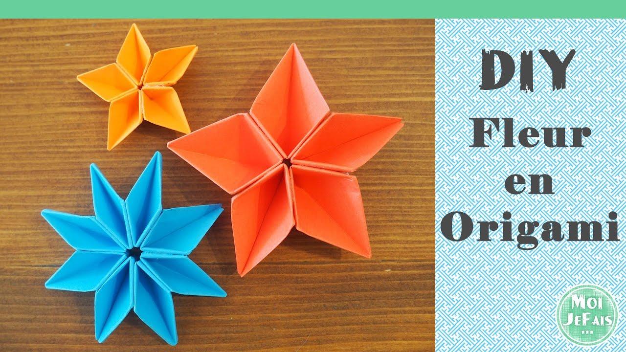 Diy - Fleur Origami Facile - La Fleur De Sakura encequiconcerne Origami Rose Facile A Faire