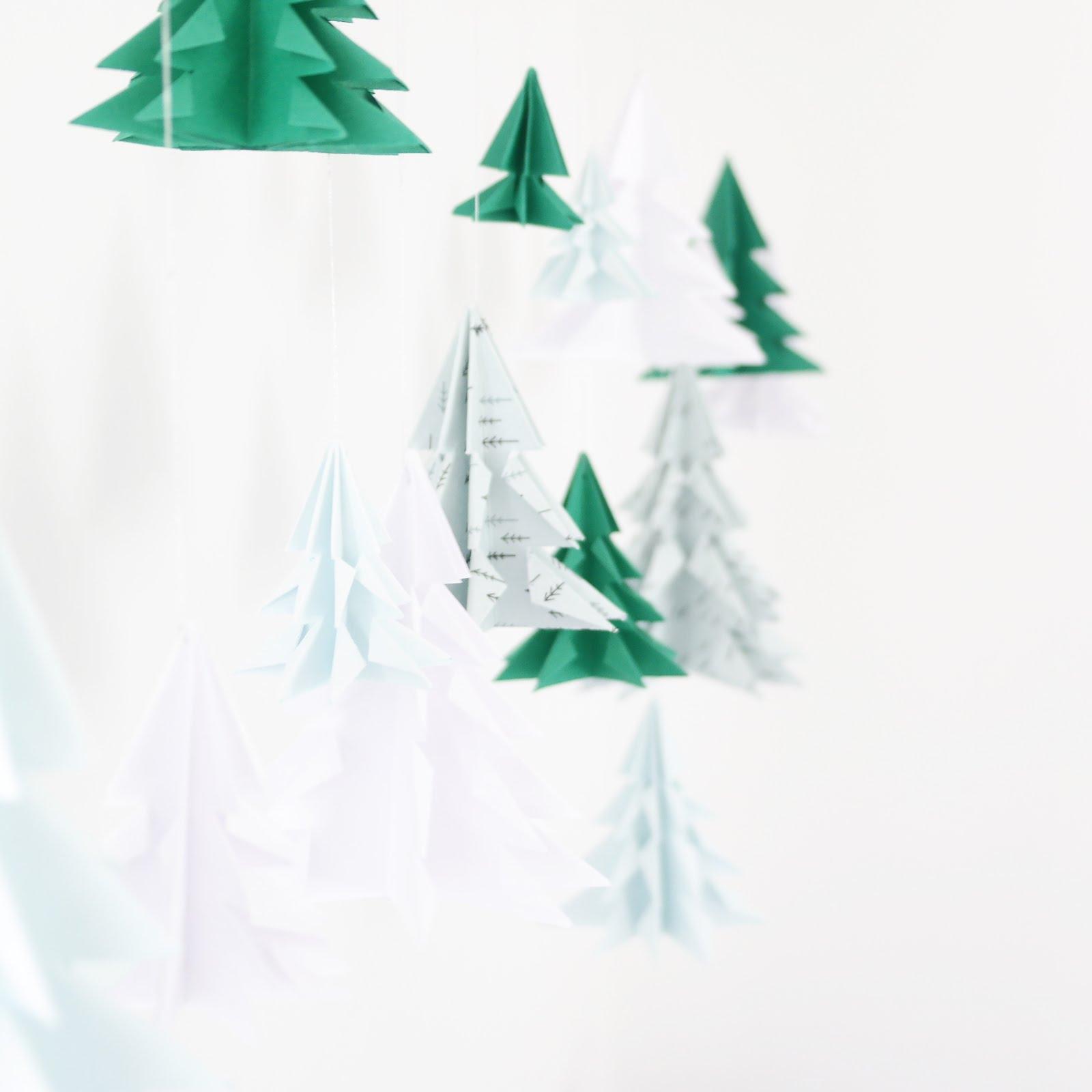 Diy - Guirlande De Sapins Origami - Stacey Stachetti pour Origami Sapin De Noel