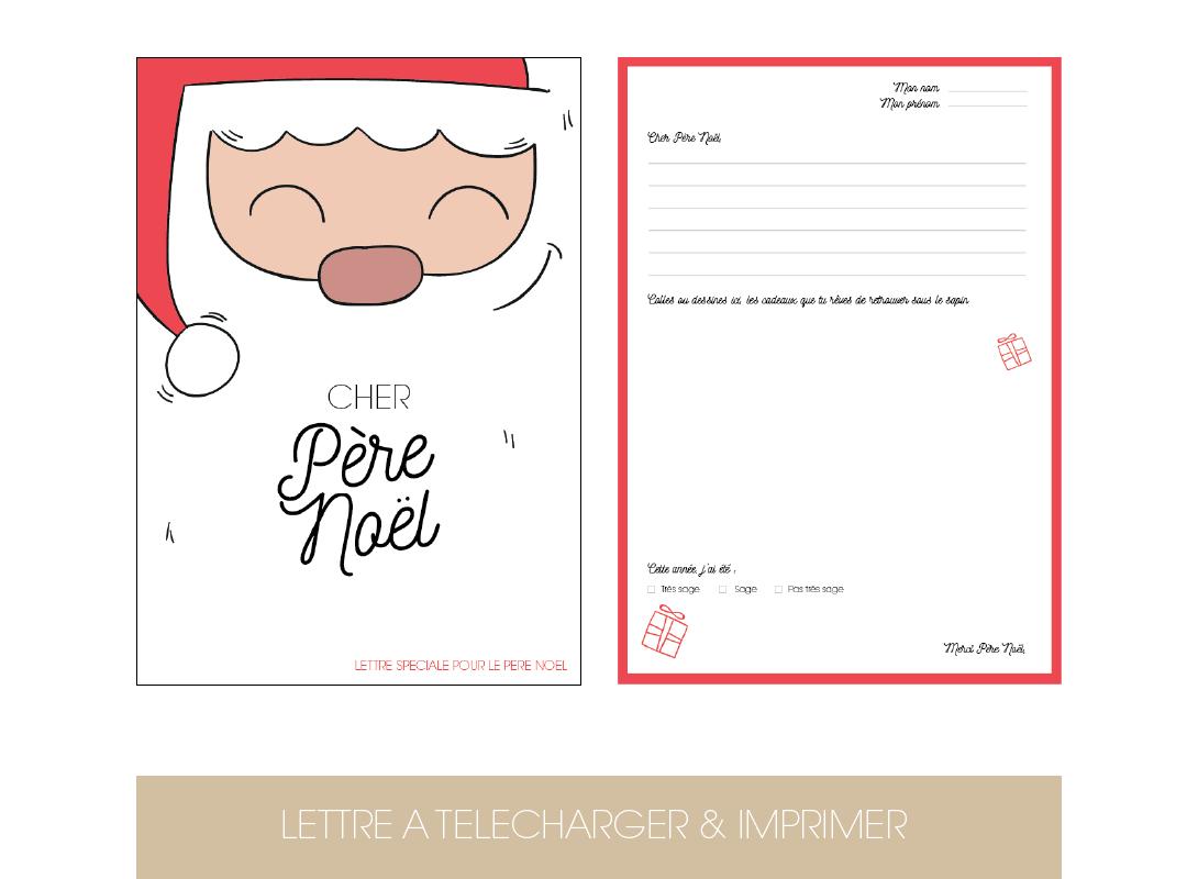 Diy Lettre Au Père Noël - Le Blog De Madame B avec Liste Pere Noel Imprimer