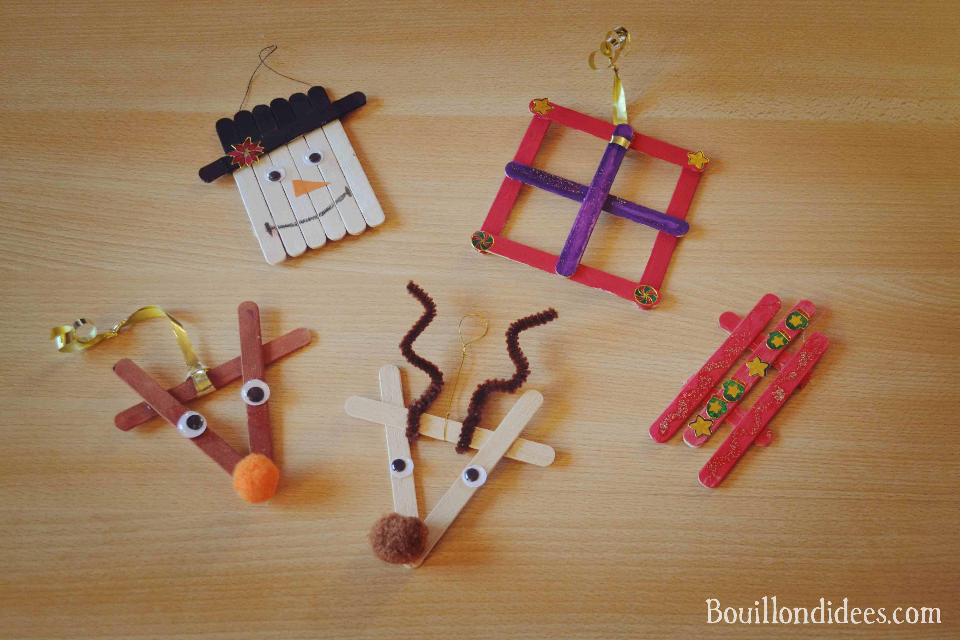 Diy Noël : Décorer Son Sapin Avec Des Bâtons De Glace encequiconcerne Bricolage Avec Baton De Bois