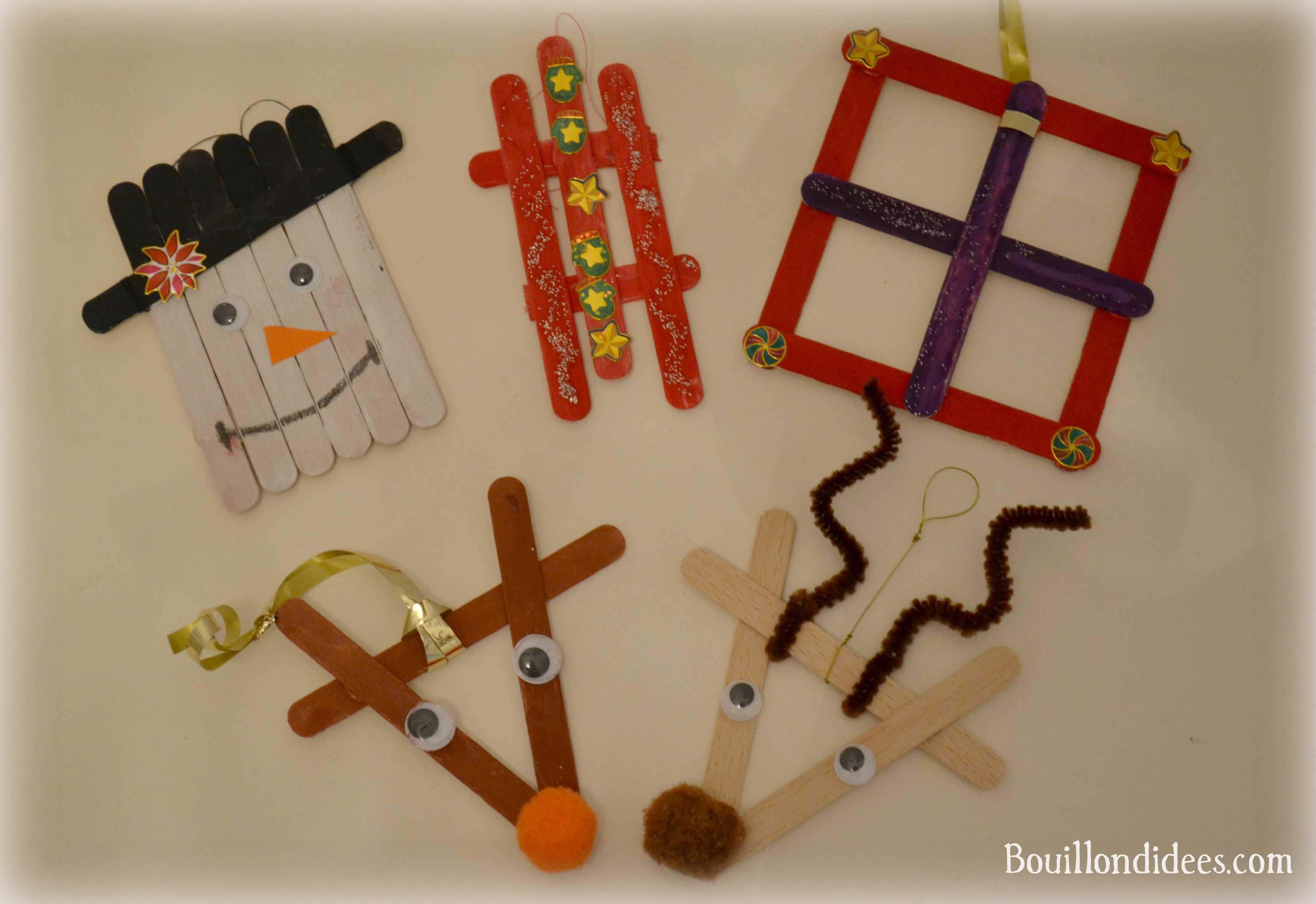Diy Noël : Décorer Son Sapin Avec Des Bâtons De Glace pour Bricolage Avec Baton De Bois