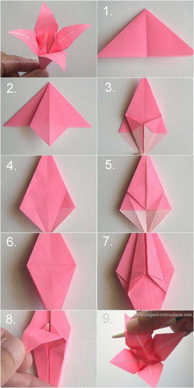 Diy Paper Origami Lily Vintage Wedding Corsages encequiconcerne Origami Rose Facile A Faire