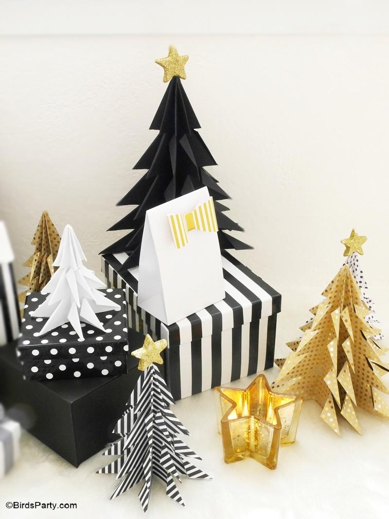 Diy Sapin De Noël Origami - Fêtes | Party Printables serapportantà Origami Sapin De Noel
