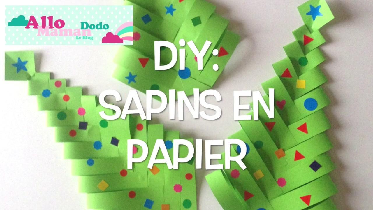 Diy Sapins De Noël En Papier ( Bricolage Facile Pour Noël ) destiné Bricolage De Noel Pour Maternelle