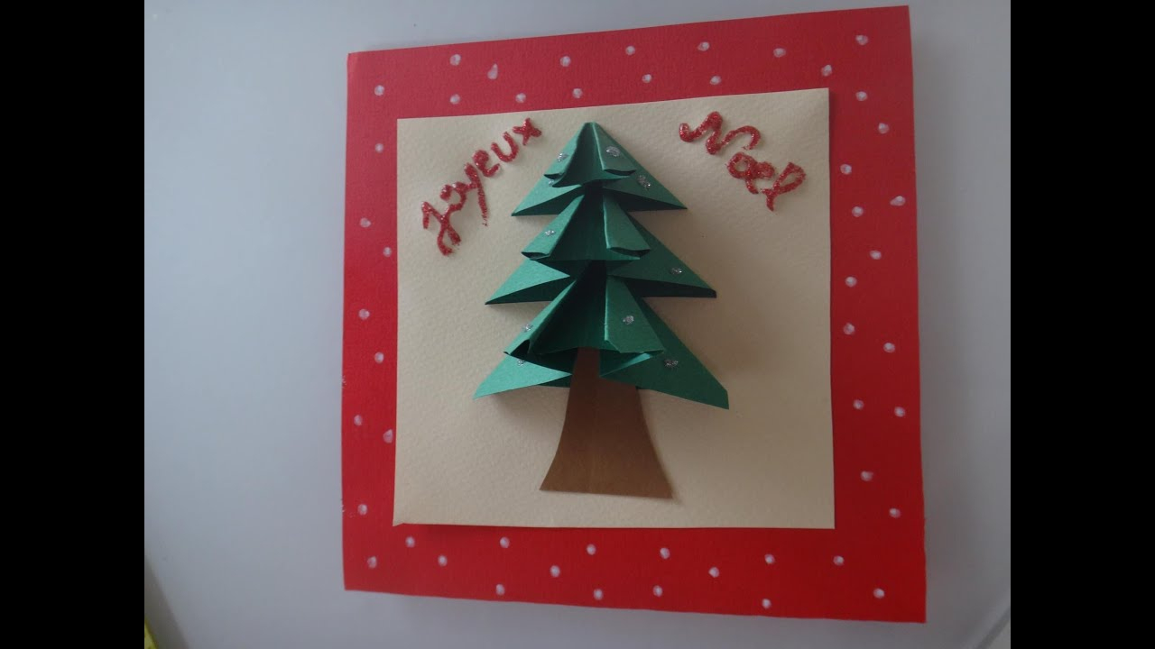 Diy Tuto Carte De Voeux Noël 3D serapportantà Bricolage De Noel Pour Maternelle