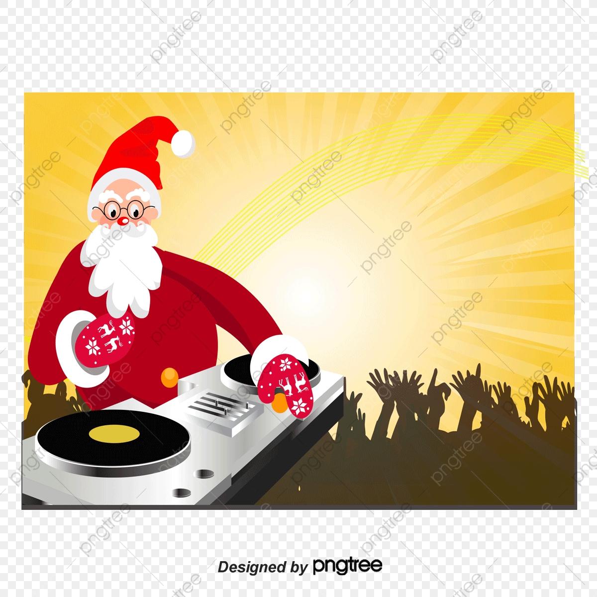 Dj Noël De La Musique De Vecteur, Dj, La Musique, Le Père tout Musique Du Père Noël