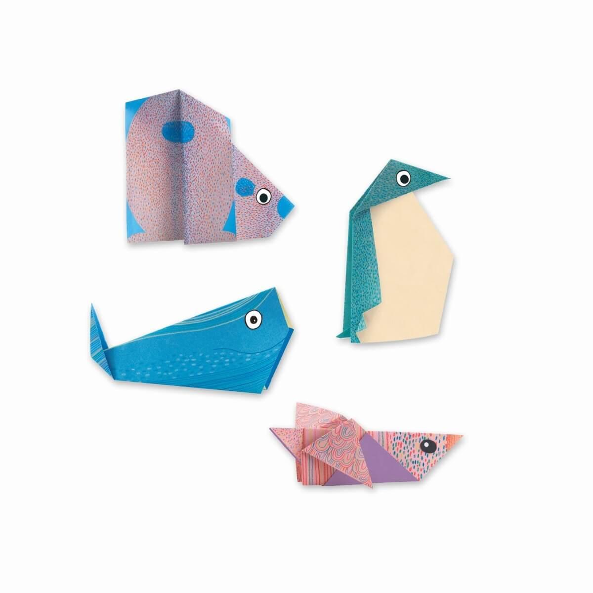 Djeco Bastelset Origami Tiere Der Arktis à Origami Petit Bateau