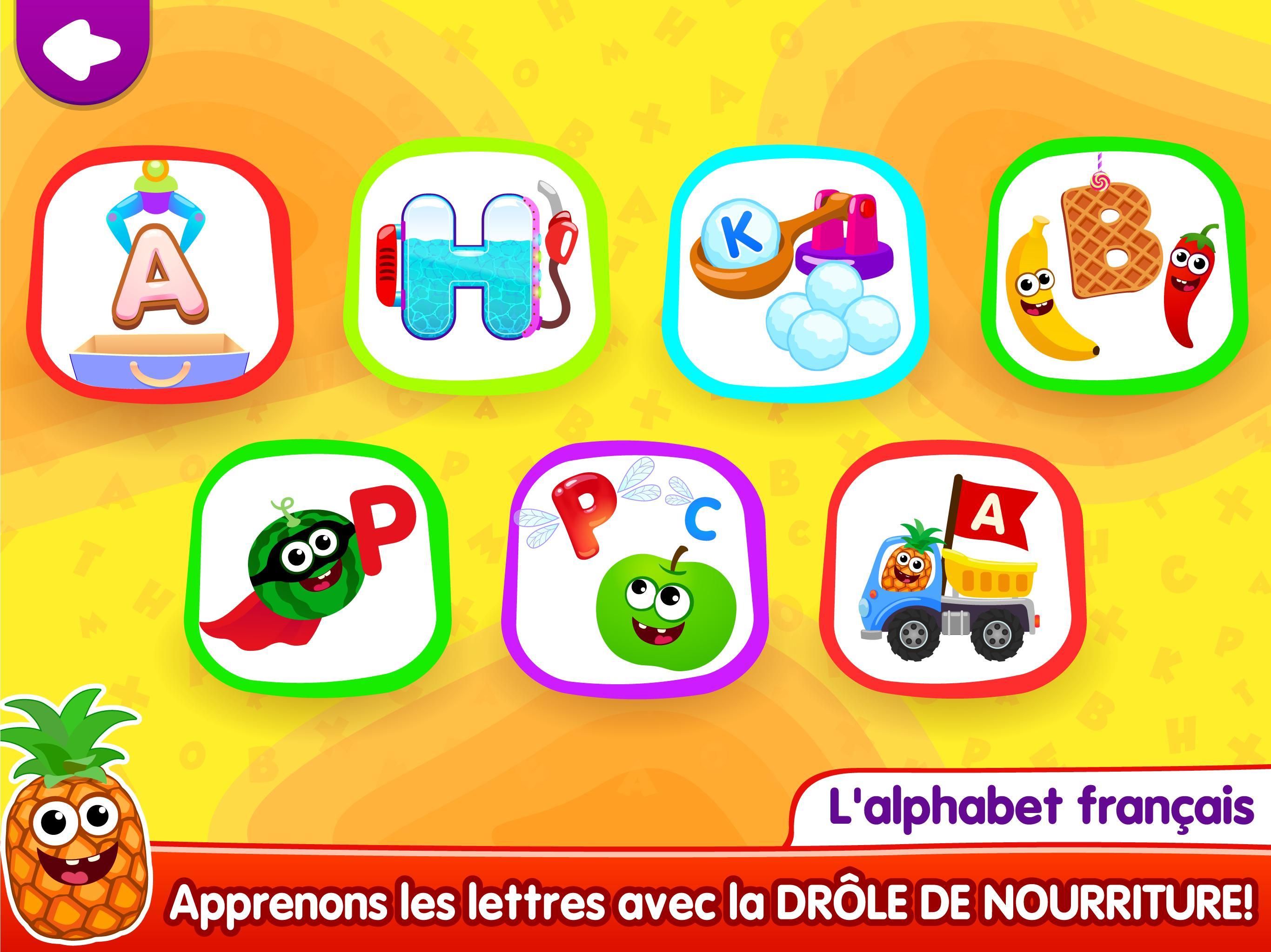 Drôle De Nourriture🥦 Jeux De Lettres Pour Enfants Pour destiné Jeux De Lettres Enfants