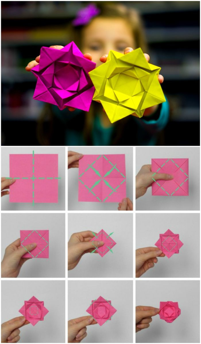 ▷ 1001 + Idées De Bricolages Pour Apprendre L'art De Pliage concernant Origami Rose Facile A Faire