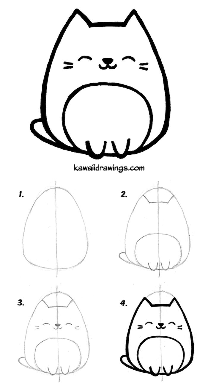 ▷ 1001 + Idées Faciles Pour Faire Un Dessin Kawaii Mignon à Coloriage Manga Kawaii