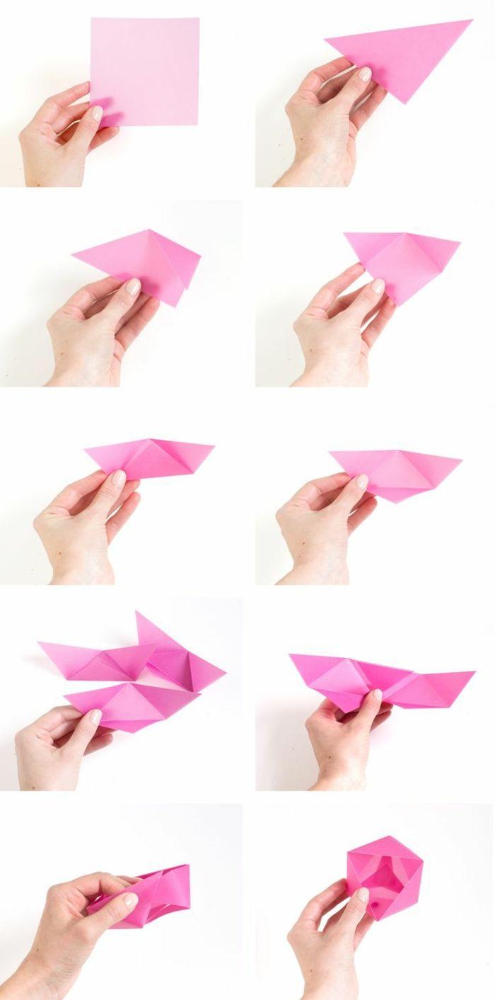 ▷ 1001 + Idées Originales Comment Faire Des Origami Facile encequiconcerne Origami Rose Facile A Faire