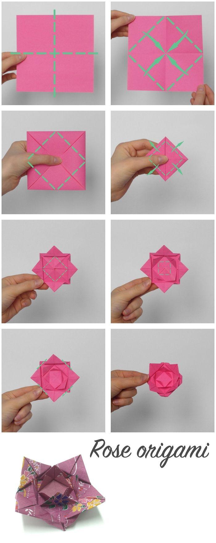 ▷ 1001 + Idées Pour Fabriquer Une Rose En Papier Aussi dedans Origami Rose Facile A Faire
