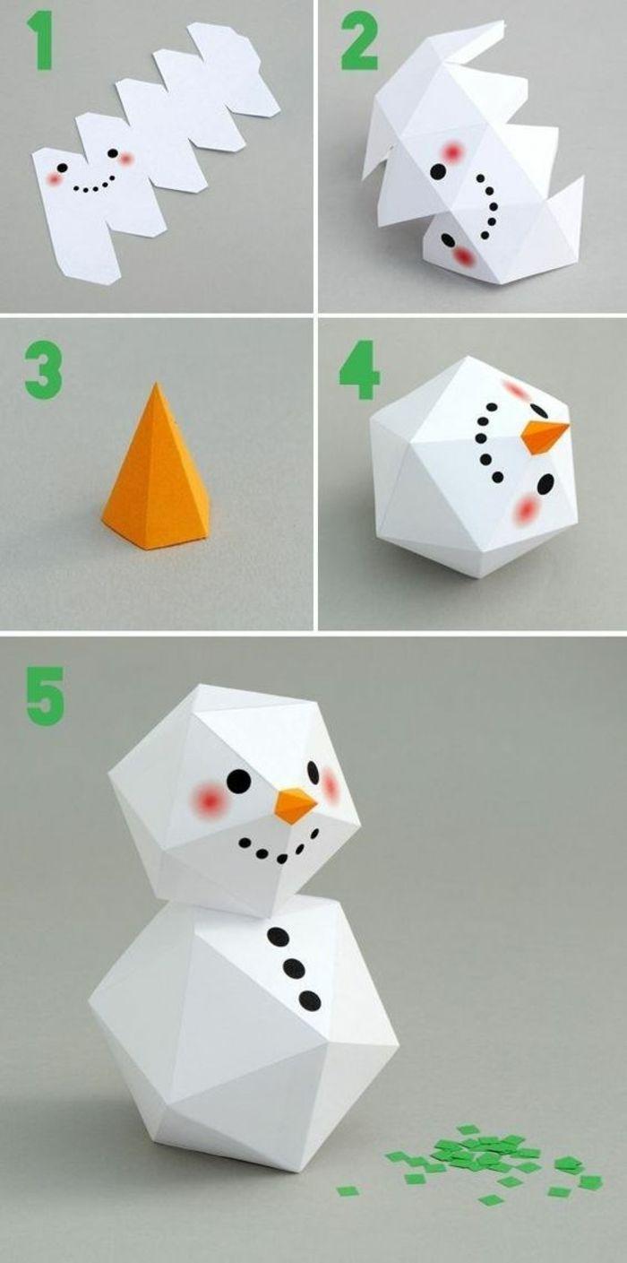 ▷ 1001+ Idées Pour Une Déco De Noël À Faire Soi Même Facile encequiconcerne Origami Bonhomme De Neige