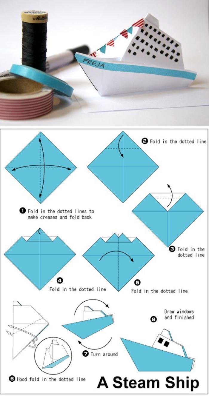 ▷ 1001 + Modèles D'origami Faciles Pour Apprendre Comment dedans Origami Petit Bateau