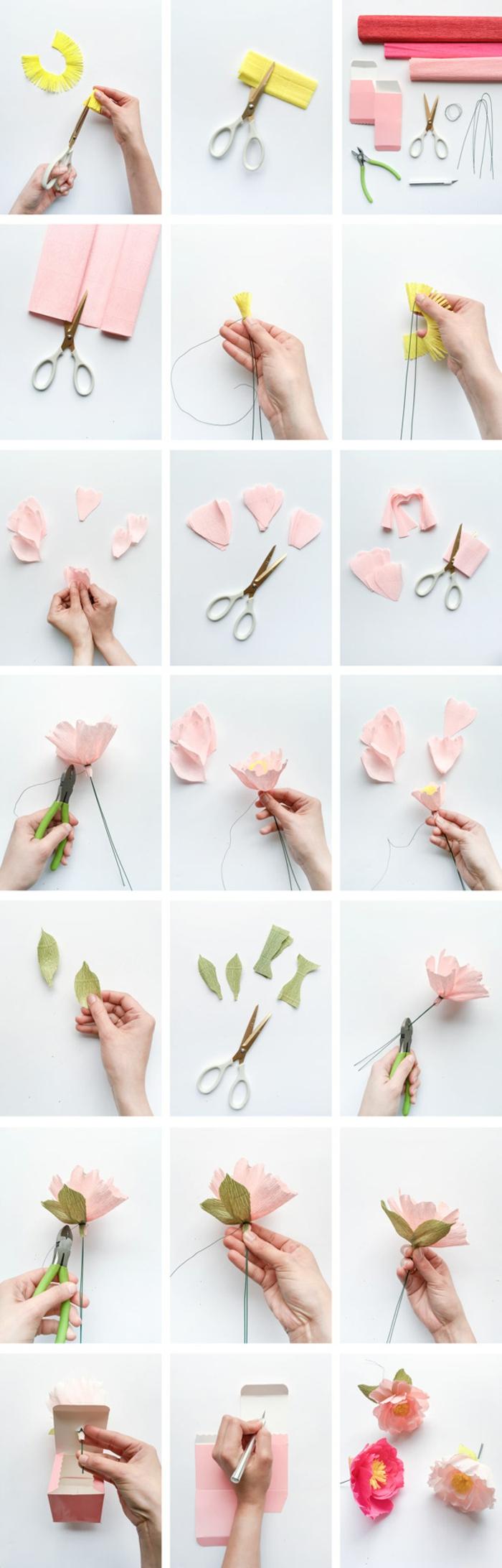▷ 1001 + Tutos Et Idées Top Comment Faire Une Fleur En encequiconcerne Realisation Papier Crepon