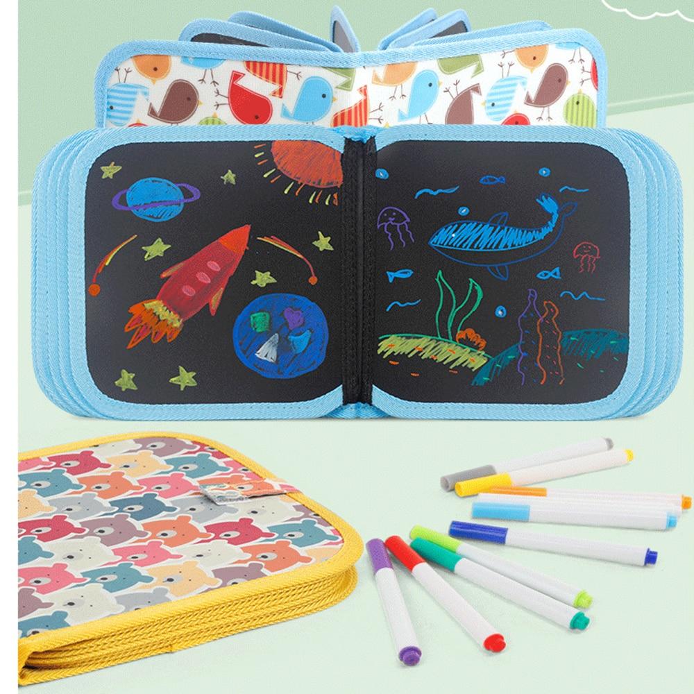 €3.68 43% De Réduction|Livre De Dessin À L'eau Magique Stylo Magique Doux  Peinture Livre De Coloriage Bricolage Tableau Noir Peinture Tableau De  Craie concernant Tableau De Peinture Pour Enfant