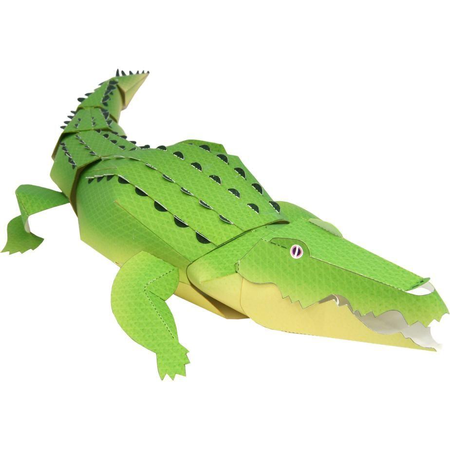 ワニ - 海の生き物 - 動物 - ペーパークラフト | Art Crocodile à Photo De Crocodile A Imprimer