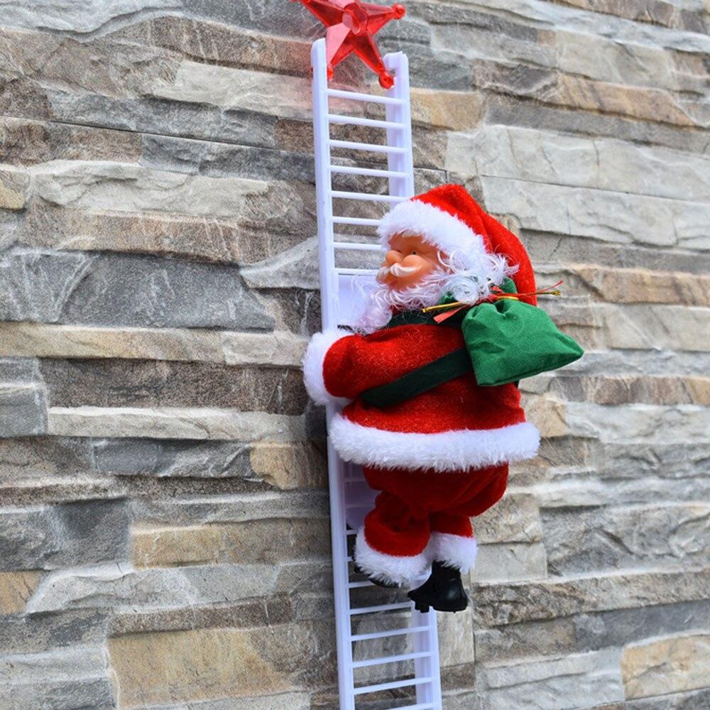 €9.82 35% De Réduction|Échelle D'escalade Électrique Père Noël Figurine De  Noël Ornement Avec De La Musique Monter Les Perles Et Descendre À Plusieurs avec Musique Du Père Noël