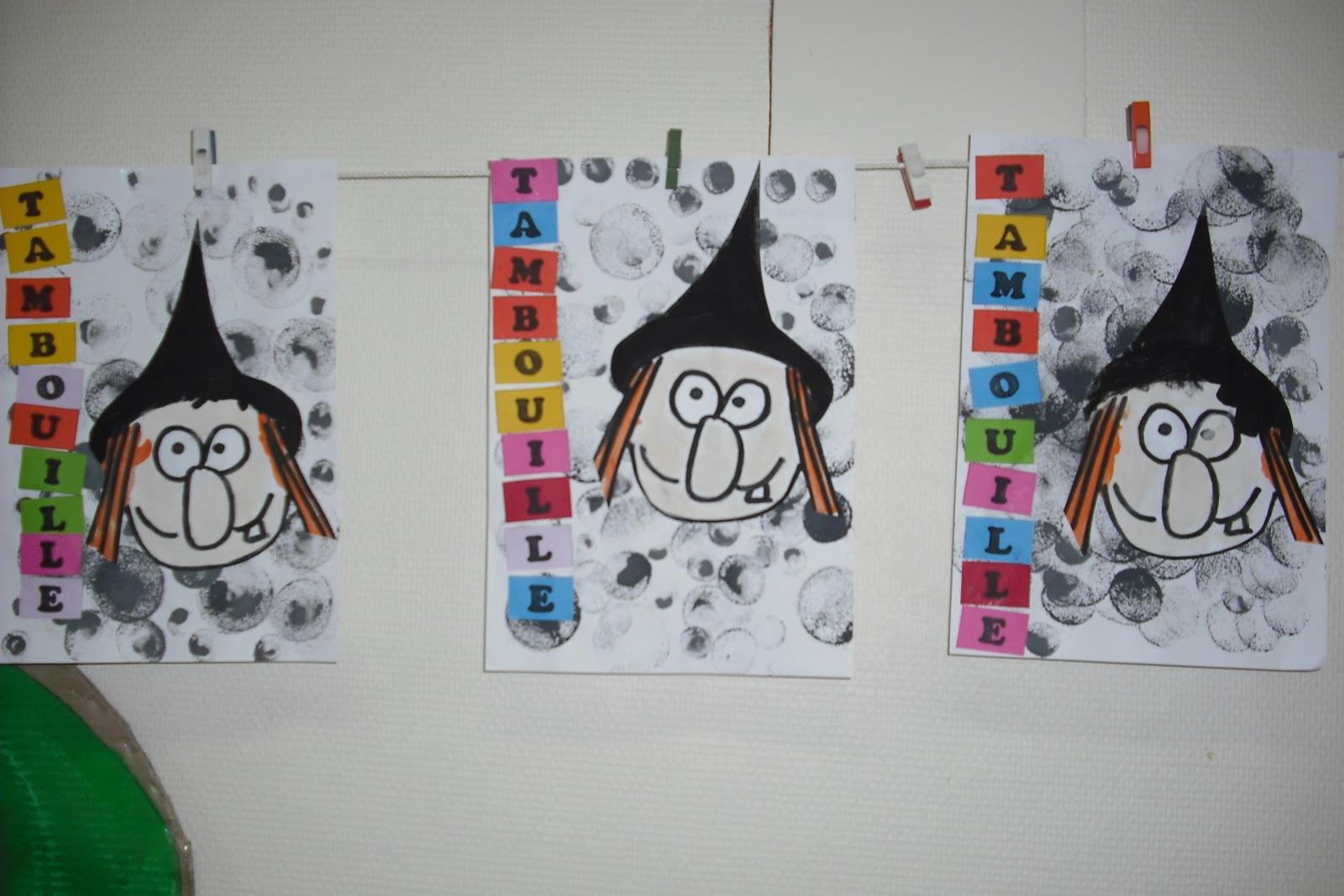 Ecole Maternelle Vitteaux: Travail Sur Les Sorcières Et L à La Sorciere Tambouille