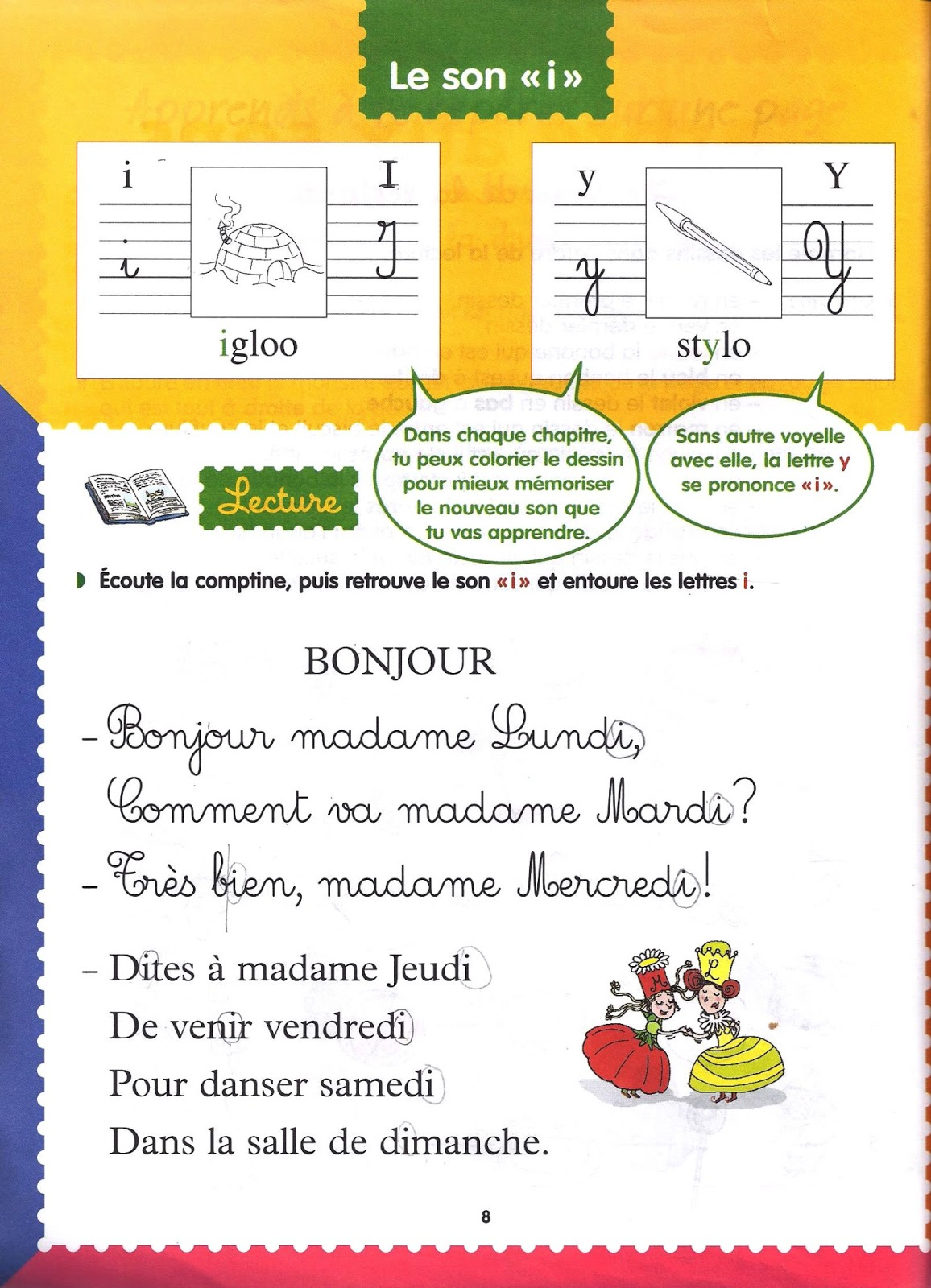 École : Références: L'arbre Aux Sons (Méthode Syllabique destiné Comptine Bonjour Madame Lundi