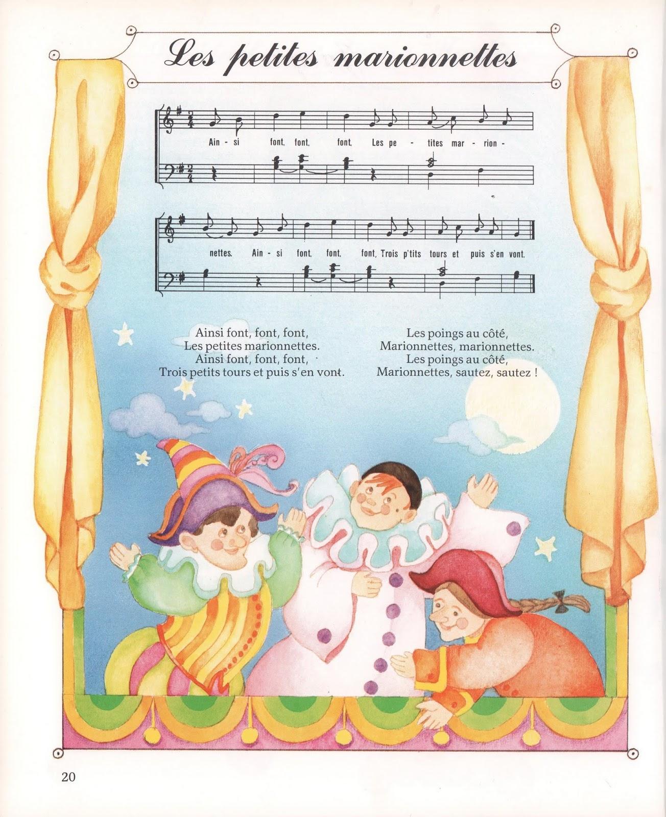 École : Références: Les Petites Marionnettes avec Les Petites Marionnettes Chanson
