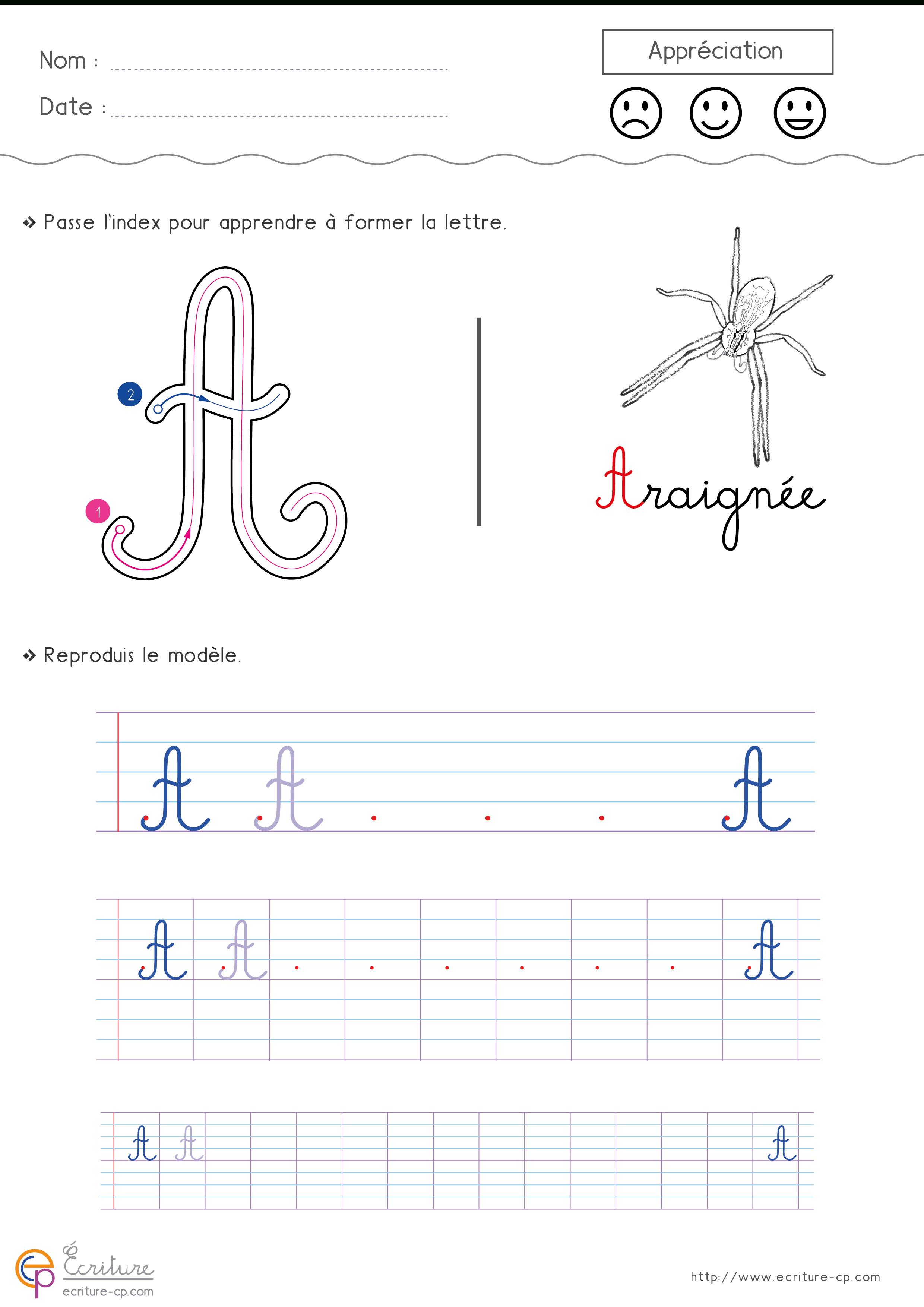 Écrire L'alphabet Majuscule Cursive Cp Ce1 | Fiche D tout T Majuscule En Cursive