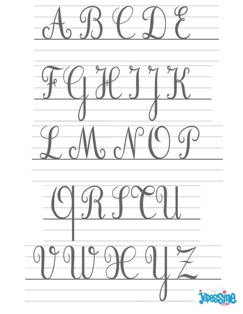 Ecrire Les Lettres Cursives En Majuscules | Majuscule concernant T Majuscule En Cursive