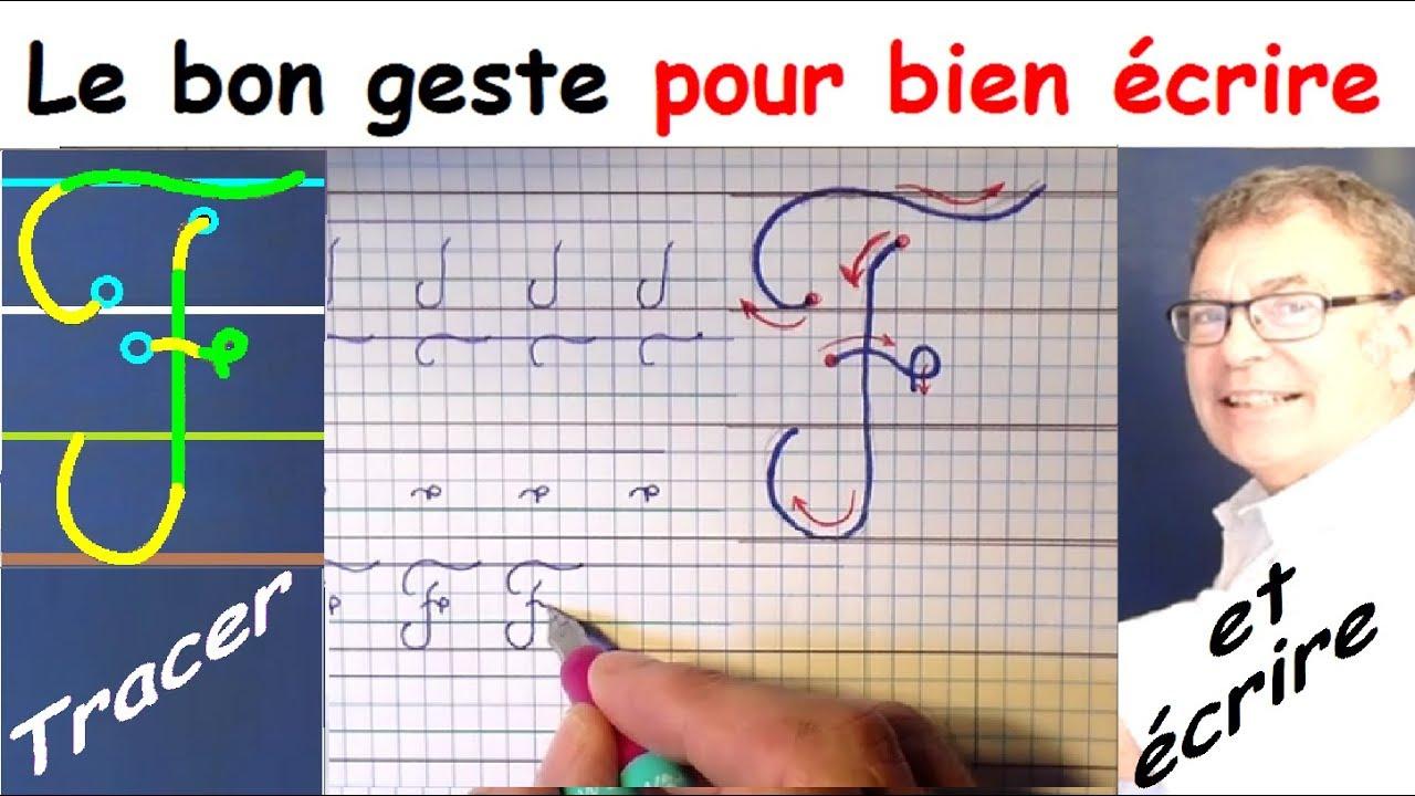 Ecriture Cursive Français Au Cp Ce1 Ce2 : La Lettre Majuscule F encequiconcerne T Majuscule En Cursive