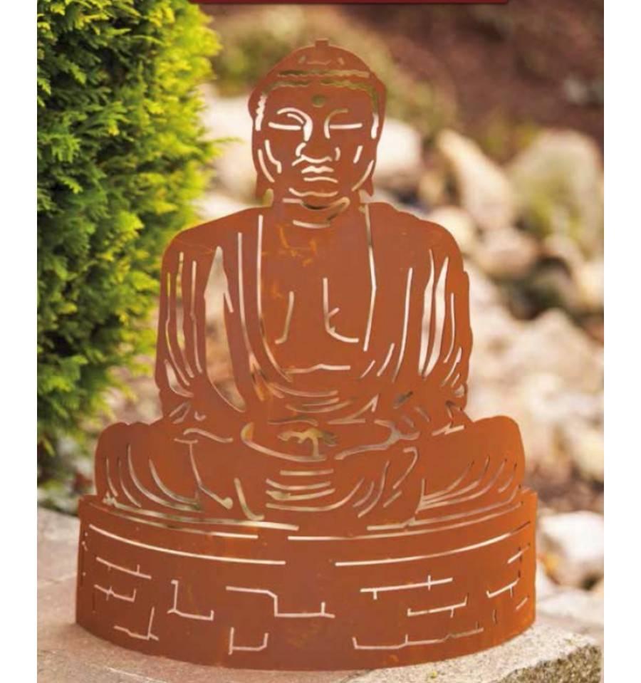 Edelrost Figur Buddha, 40Cm Hoch Und 30Cm Breit Gr. 2 encequiconcerne La Grenouille Meditation